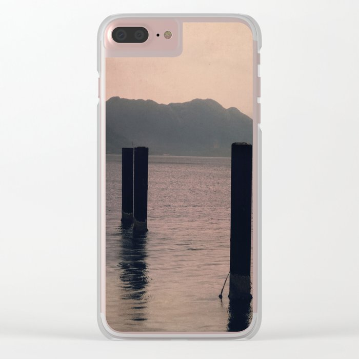 mountains inner peace Clear iPhone Case