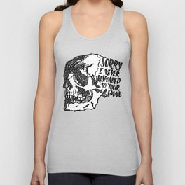 Never Responded Unisex Tank Top