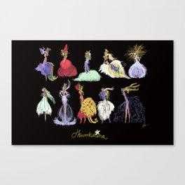 Thumbelina Dresses! Canvas Print