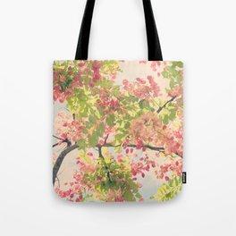 Pink Shower Tree Tote Bag
