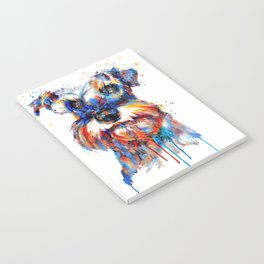 Schnauzer Head Watercolor Portrait Notebook
