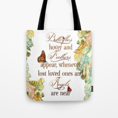 Butterflies Feathers and Angels Tote Bag