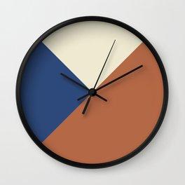 Origami geo tile // Multi-color Wall Clock