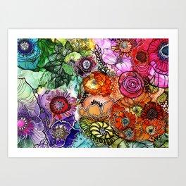 Razzle D Floral Art Print