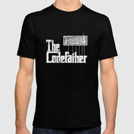Funny programmer design The Codefather graphic vintage T-shirt
