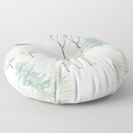 Winter Landscape Floor Pillow