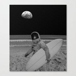 Moon surfer Canvas Print