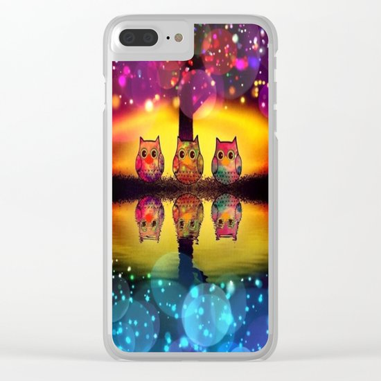 owl-37 Clear iPhone Case
