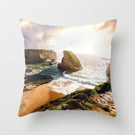 Over Shark Fin Cove Throw Pillow