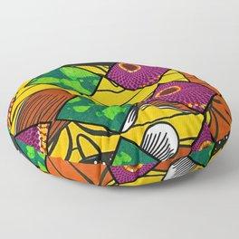 Vintage Earthy Mardi Gras African Print Floor Pillow