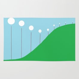 Abstract Landscape - Lights on the Hill Rug