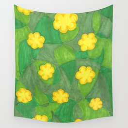 Flores Amarillas Wall Tapestry