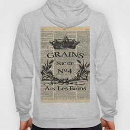 dictionary print rustic shabby french country wheat wreath Hoody