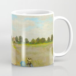 Claude Monet Impressionist Landscape Oil Painting Poppy Field Coffee Mug