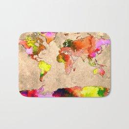 World Grunge Bath Mat