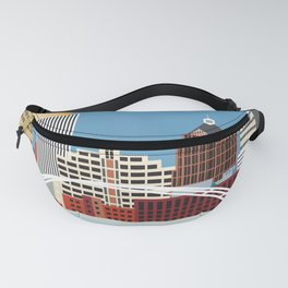 Rochester, New York - Skyline Illustration by Loose Petals Fanny Pack