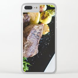 Beef Steaks With Vegetables Clear iPhone Case