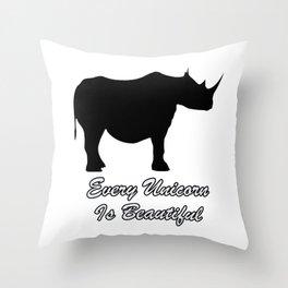 Accept Your Body Throw Pillow