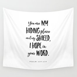 Psalm 119:114 - Bible Verse Wall Tapestry