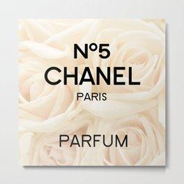 perfume no5 roses Metal Print