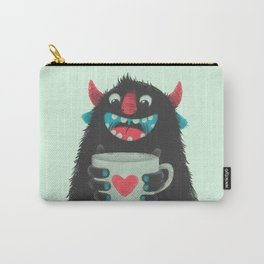 Demon with a cup of coffee Carry-All Pouch
