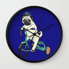 Royals Pug Wall Clock
