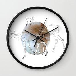 damaged fawns Wall Clock