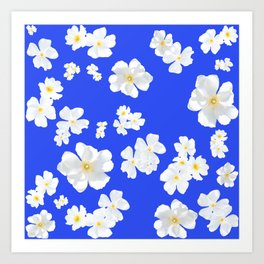 Boboli White Flowers Art Print