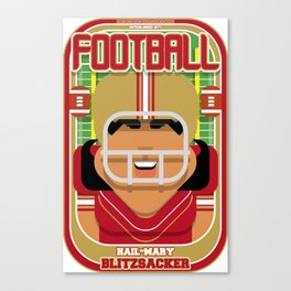 American Football Red and Gold - Hail-Mary Blitzsacker - Indie version Canvas Print