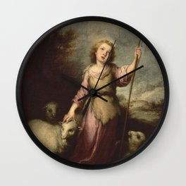 Bartolome Esteban Murillo - The Young Christ as the Good Shepherd Wall Clock