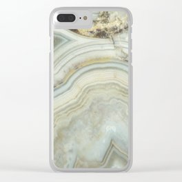White Agate Clear iPhone Case