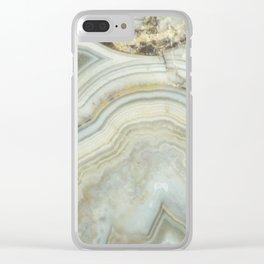 White Agate Clear iPhone Case