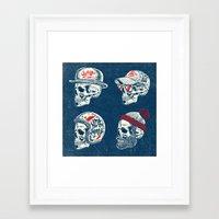 skulls Framed Art Prints featuring Skulls  by HATCHER_DRAWS