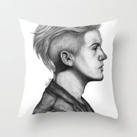 dylan Throw Pillows featuring Dylan by Emily Smith (Emzstuff)