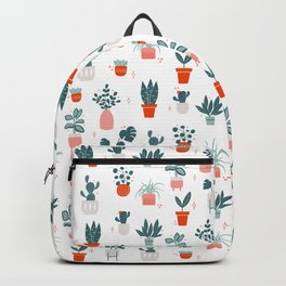 House Plants Pattern Backpack