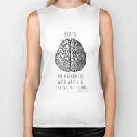 brain Biker Tanks featuring Brain by T-SIR | Oscar Postigo