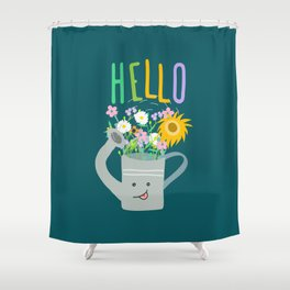 Happy Day- Watering Can Shower Curtain