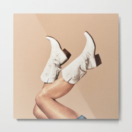 These Boots - Nude Metal Print