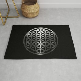 Flower Of Life (Silver Gleams) Rug