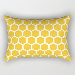 Honey-coloured Honeycombs Rectangular Pillow