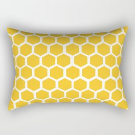 Honey-coloured Honeycombs Rectangular Pillow