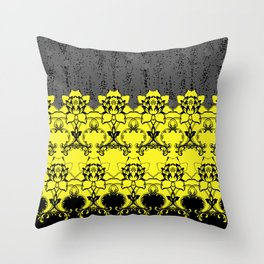 Damask Floral Texture Throw Pillow