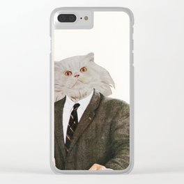 Cat Chat Clear iPhone Case