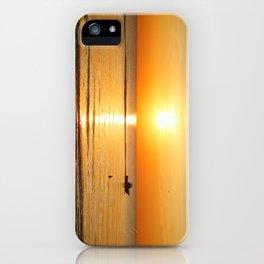 Yellow Sunset Ocean iPhone Case