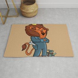 cartoon lion. Rug