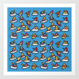 Paddlers Party Art Print