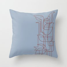 Geometric Birds 2 Throw Pillow