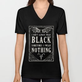 """Tshirt Design """"The Goth Color Palette"""" Unisex V-Neck"""
