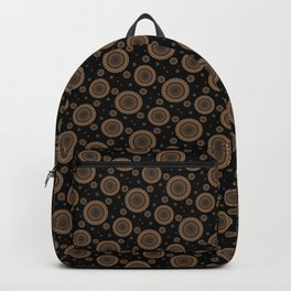 Brown and golden mandala Backpack