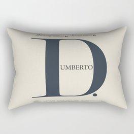 Umberto D, Vittorio De Sica, italian movie poster, neorealist film, neorealismo, cinema italiano Rectangular Pillow